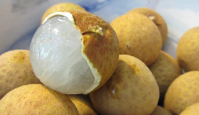 Exotic fruits: longan fruit